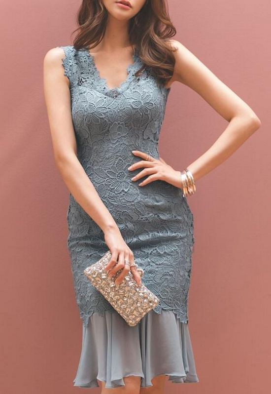 Korean Style Lace Slim Dress