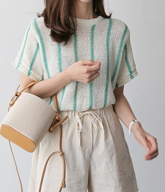 On Sale Stripe Knitting Top