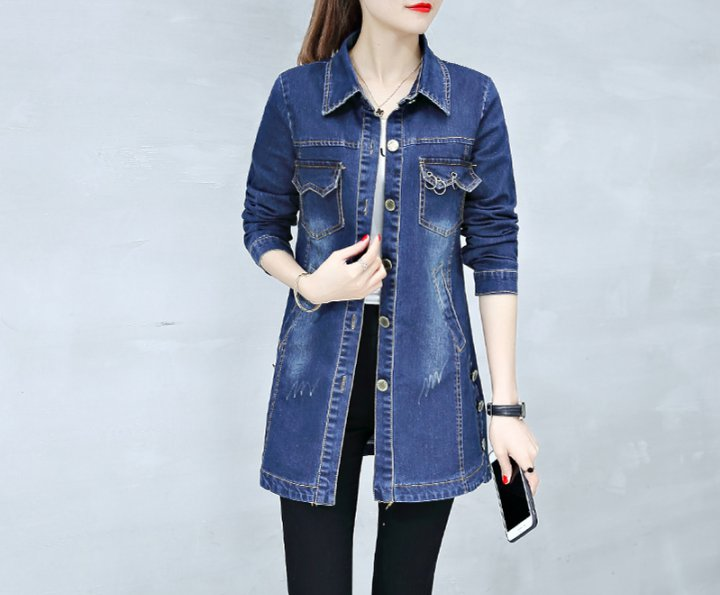 Long coat Korean style windbreaker for women