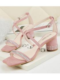 On Sale Crossing Bead Matching Fashion Sandal