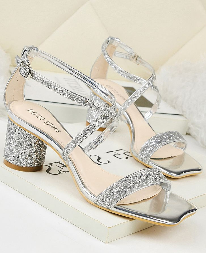 On Sale Crossing Sequins Matching Fashion Sandal
