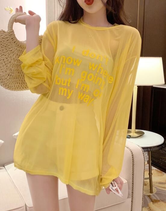 Discount Loose Letter Printing T  Shirt