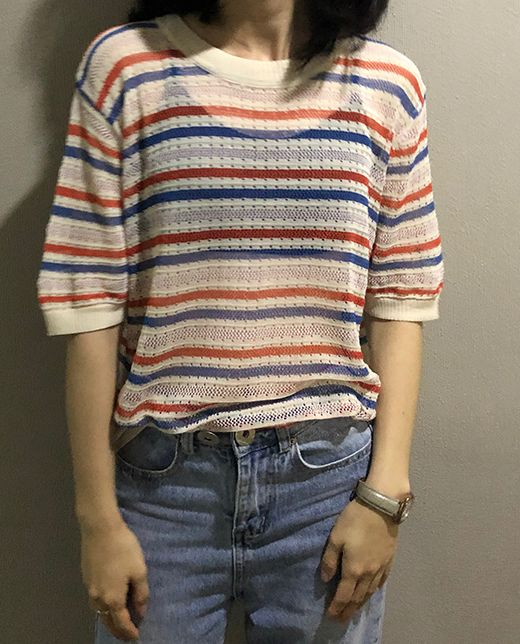 For Sale Stripe Loose Sweet T  Shirt