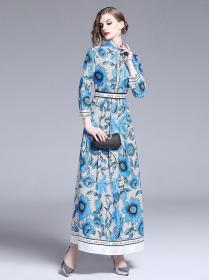 In vogue Fashion print Long sleeve Dress