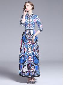 Hot sale Retro style Fashion print Dress