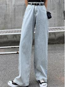 Fashion style Loose Broken holes Denim pant
