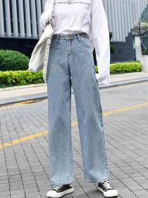 Wholesale Korean style Light colour Denim pant