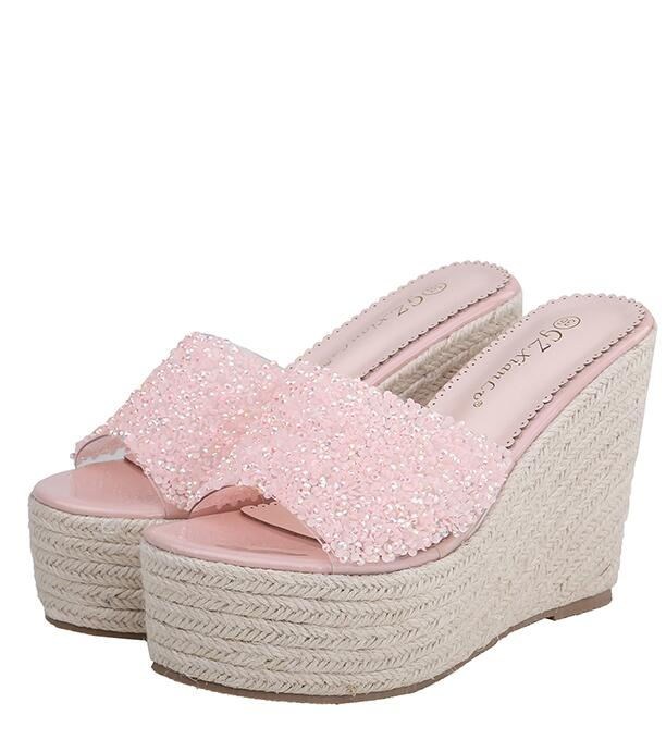 Out Let  Sequins Matching Fashion Slipper