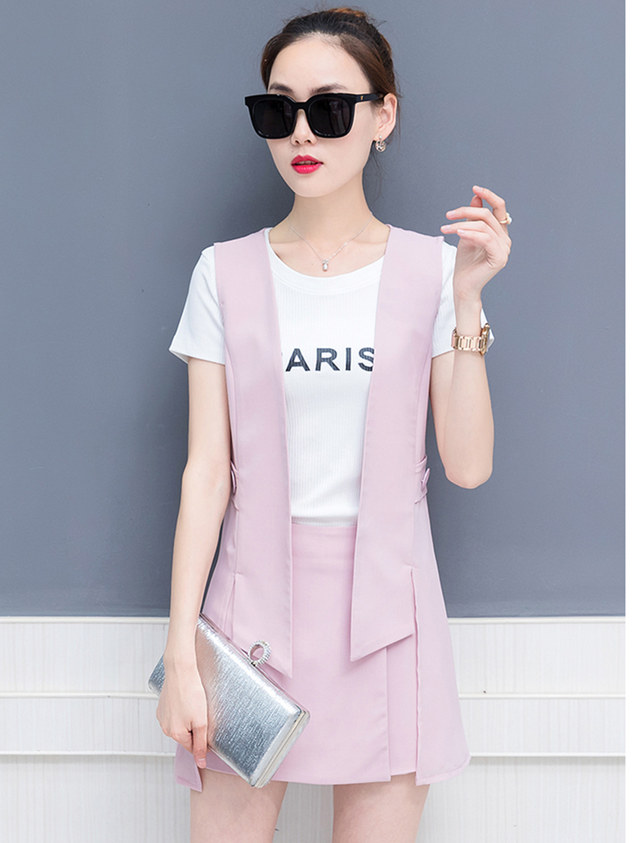 Wholesale Korea 3 Colors Letters Slim Three Pieces Suits