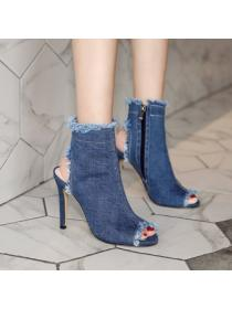 Fish mouth summer boots sexy stilettos for women