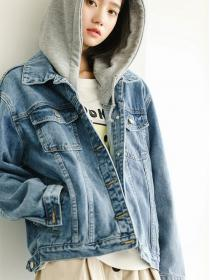 Discount Loose Leisure Retro colour Denim jacket