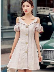 On Sale Dew shoulder Fashion Sexy Straps Dress