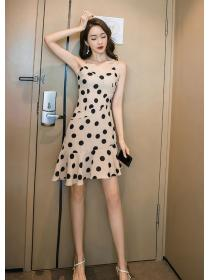 For sale Dot print V collar Sexy Straps Dress