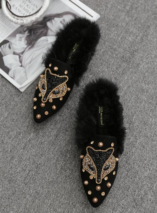 On Sale Soft Fur  Matching Fashion Shoes