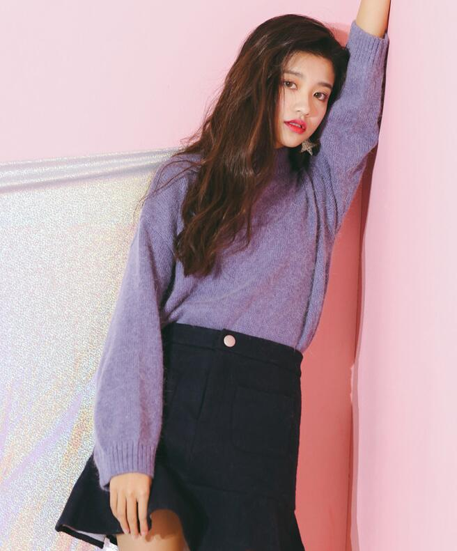 On Sale Pure Color Simple Sweater