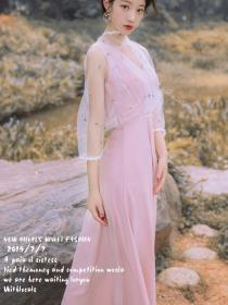 Birtish style Gauze Sweet Dress
