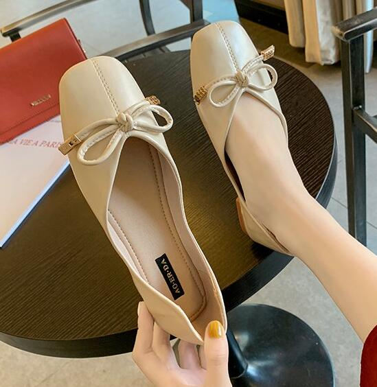For Sale Bowknot Matching Pure Color Shoes