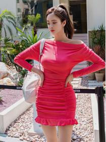 Wholesale Hip-full knit Sexy Dress