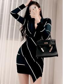 For sale OL V collar Hip-full Slim Dress
