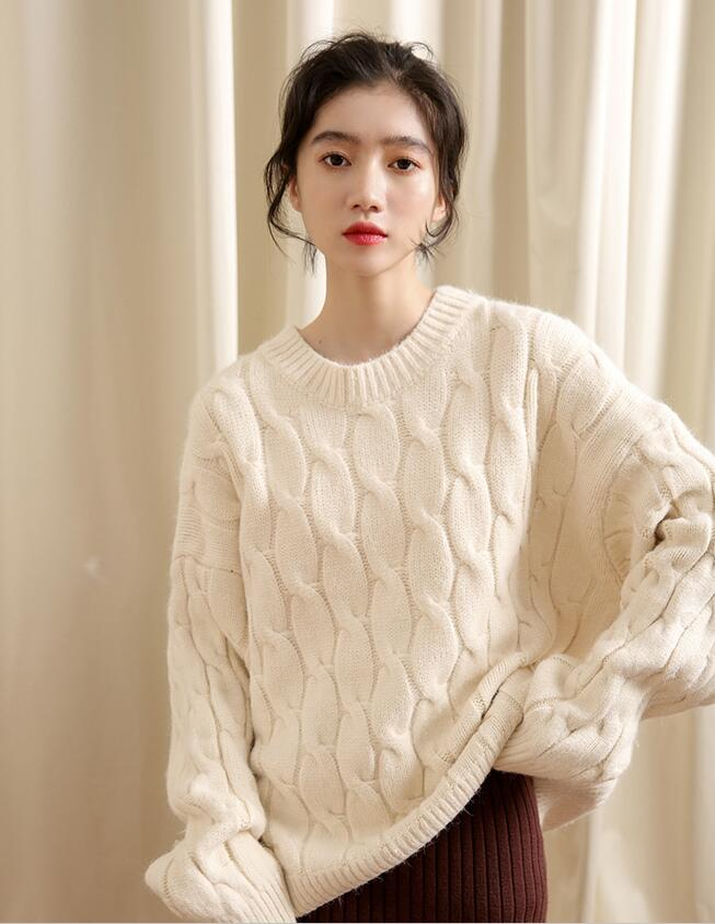 Korean Style Pure Color Simple Knitting Top
