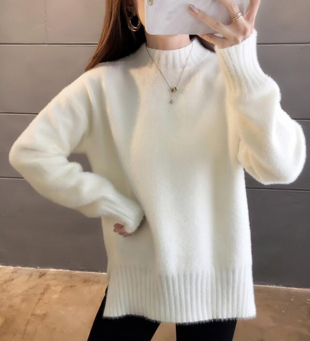 For Sale  Pure Color  Simple Knitting Top