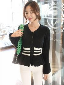 New style Knit Round collar Simple Pullovers