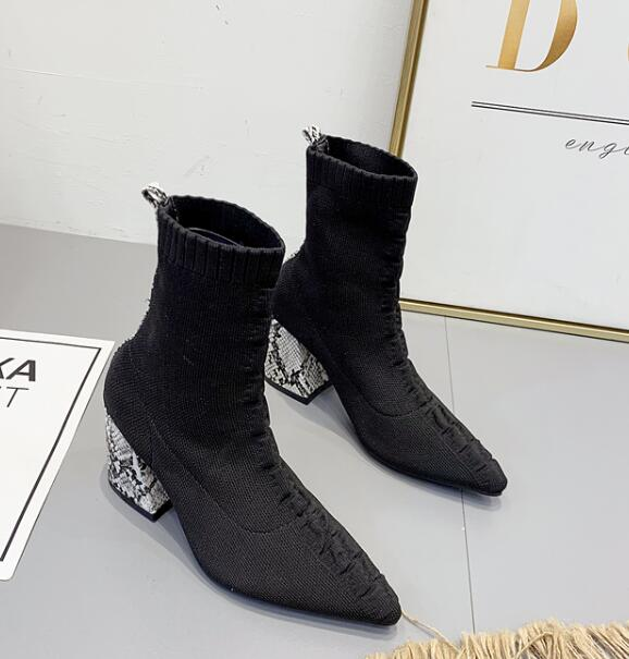 On Sale Pure Color Fashion Boots