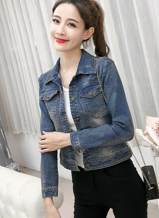 Out Let Printing Fashion Denim Coat