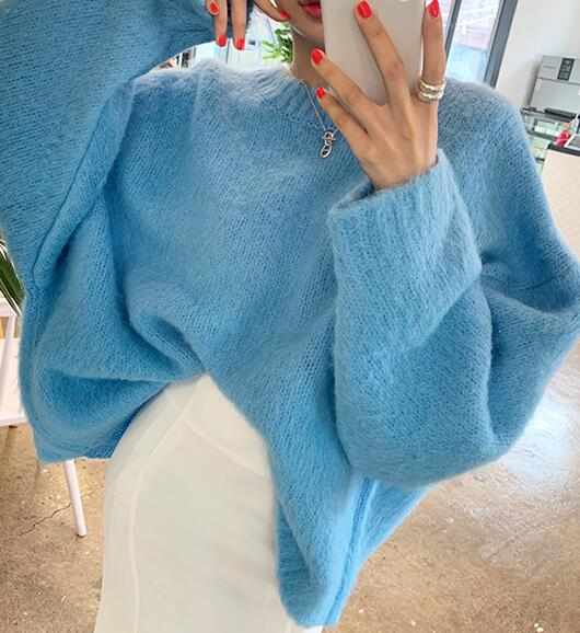 On Sale Pure Color Knitting Top
