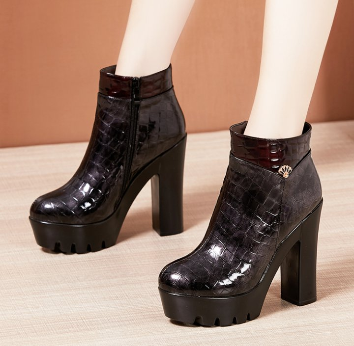 Winter short boots high-heeled martin boots for women
