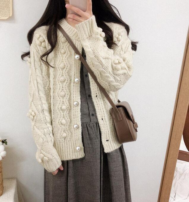 On Sale Pure Color  Fashion Loose Sweater