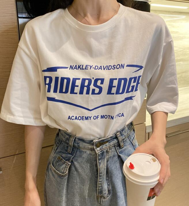 On Sale Letter Printing Loose T Shirt