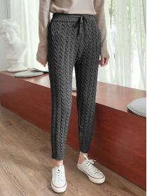 Hot  sale Loose Thick Knit Trousers