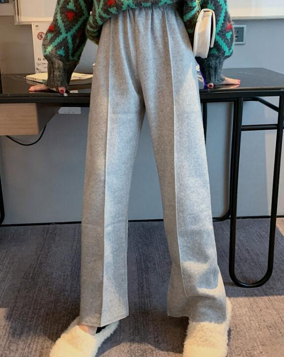 On Sale Pure Color Open Fork Long Pants