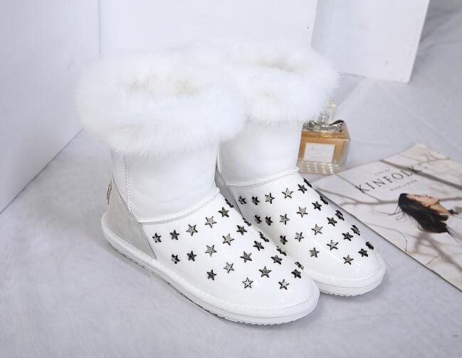 Out Let Soft Fur Matching Fashion Boots