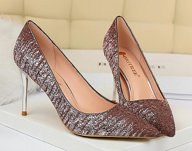 European Style Sequins Matching Fashion Shoes