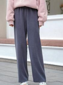 Winter fashion High waist Trouser