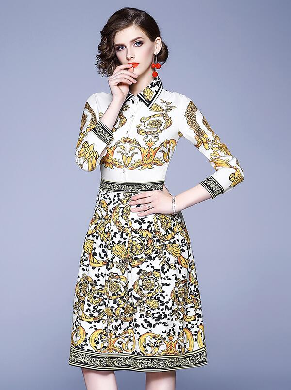 On Sale Show Waist Flower Nobel Dress