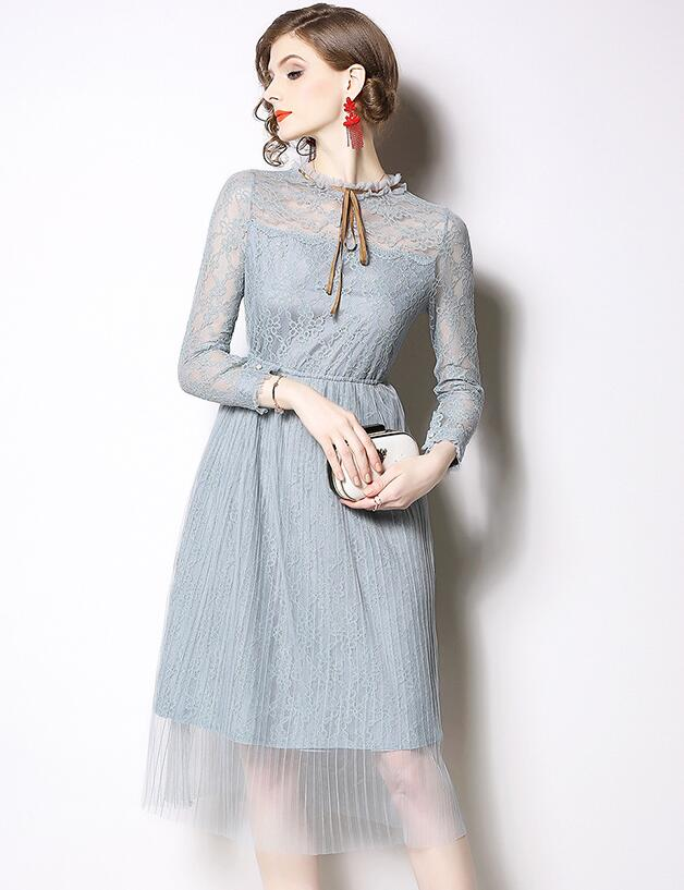 European Style Lace Nobel Hollow Out Dress