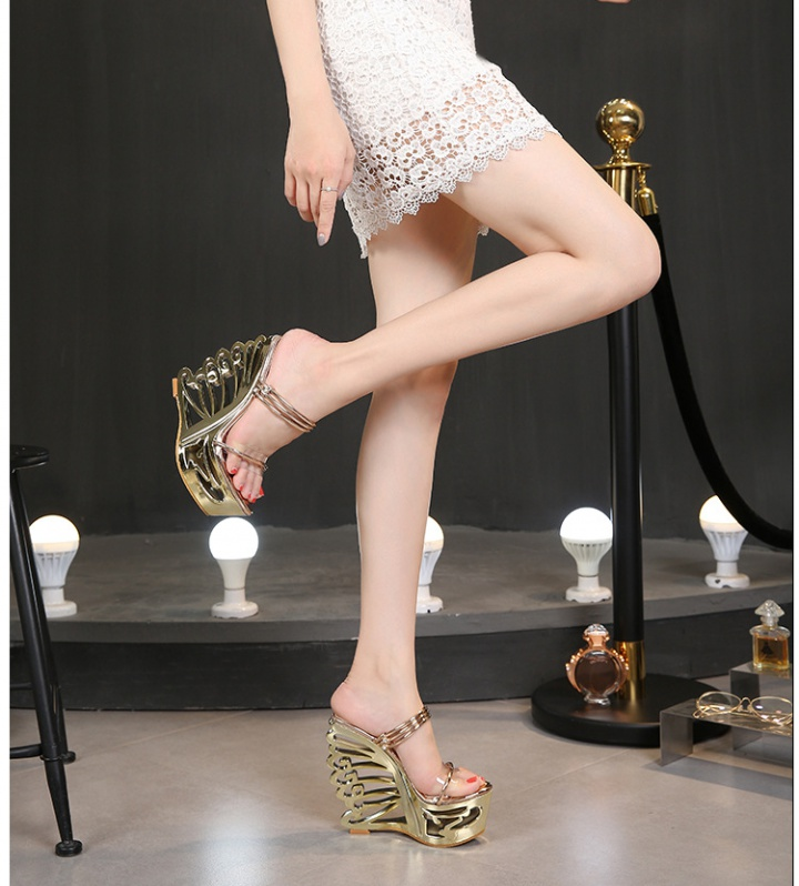 Wears outside transparent sandals high-heeled shoes for women