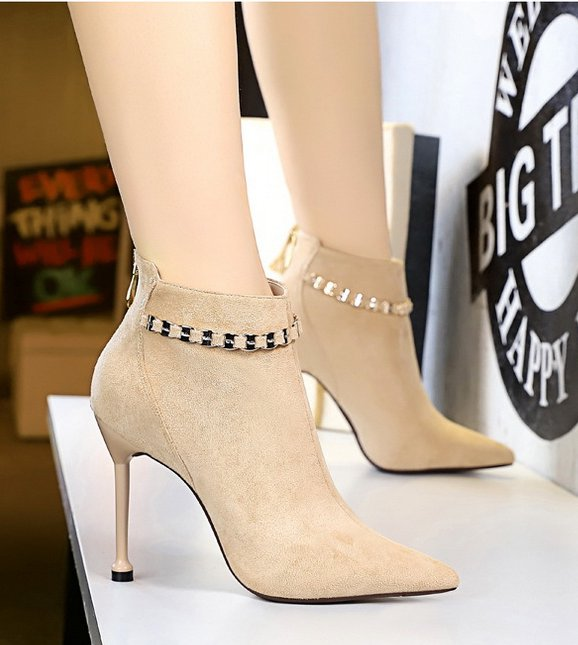Broadcloth banquet sexy chain short boots for women