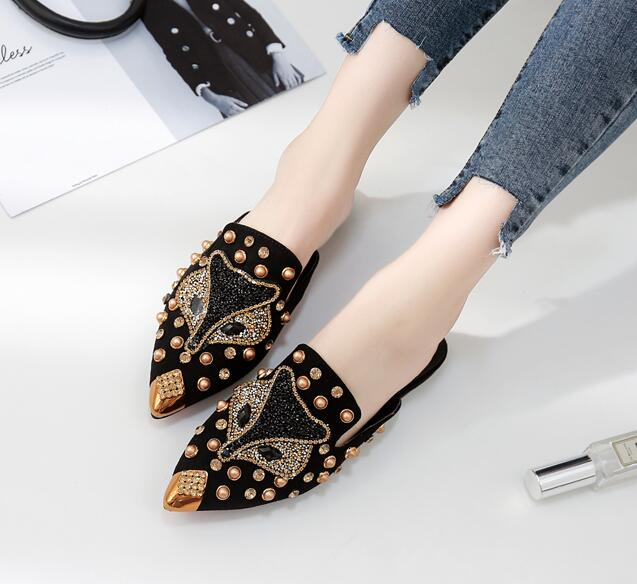 European Style Rivet Matching Point Toe Shoes