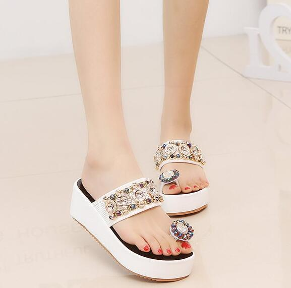 On Sale Bead Matching Fashion Flip-Flop Shoes