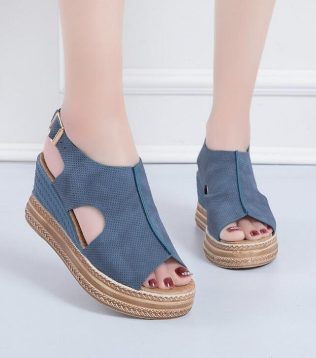 On Sale Hollow Out Pure Color Sandal