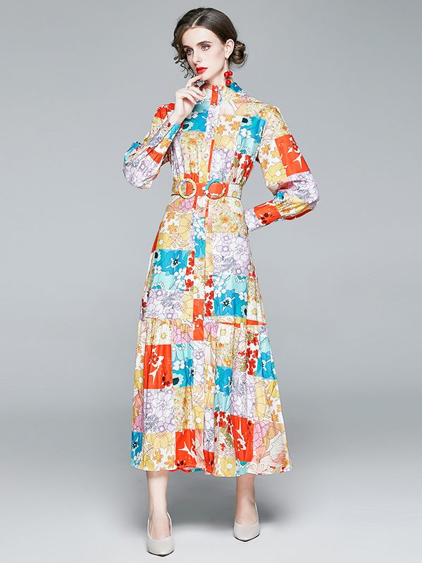 For Sale Printing Fashion Nobel Dress