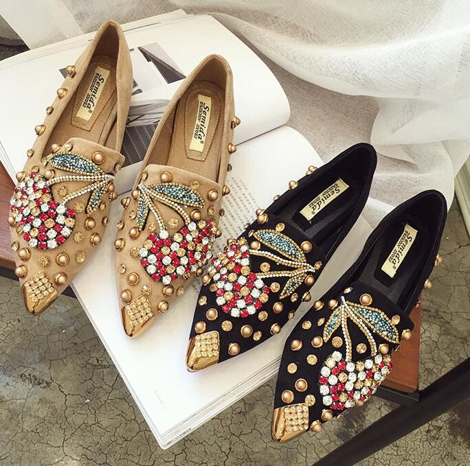 For Sale OL  Style Sequins Matching Point Toe Fashion Shoes
