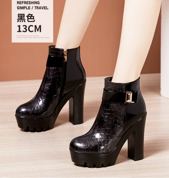 Embossing short boots autumn and winter boots for women