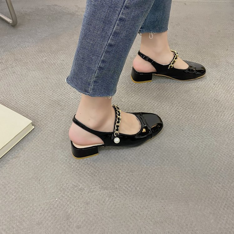 Korean style summer shoes student flattie for women